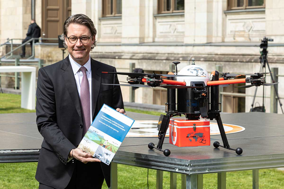 German copters at the Minister of Transport and digital Infrastructure