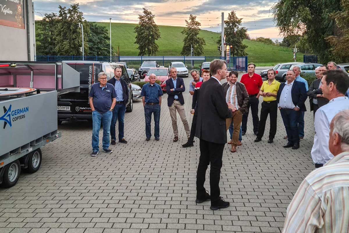 Presentation in the port of Dresden
